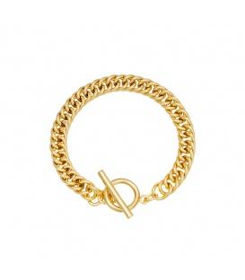 Goudkleurige chain armband met kapittel sluiting
