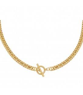 Goudkleurige chain ketting met kapittelsluiting