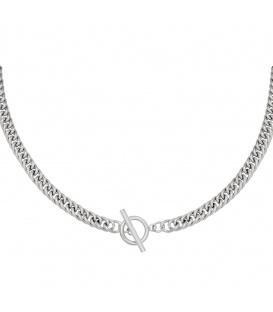 Zilverkleurige chain ketting met kapittelsluiting