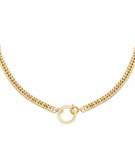 Goudkleurige chain ketting met een cirkel