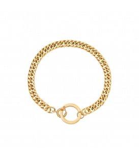 Goudkleurige chain armband met een cirkel