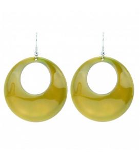 Oorbellen met gele ronde hanger