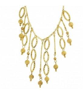 Goudkleurige ketting met verschillende hangers