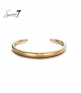 Simpele goudkleurige bangle armband