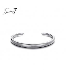 Simpele zilverkleurige bangle armband