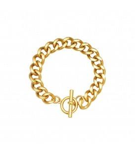 Goudkleurige chain armband met een kapittelsluiting