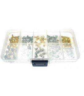 Handige box met een assortiment aan oorbel stoppertjes
