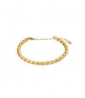 Goudkleurige gedraaide bangle armband
