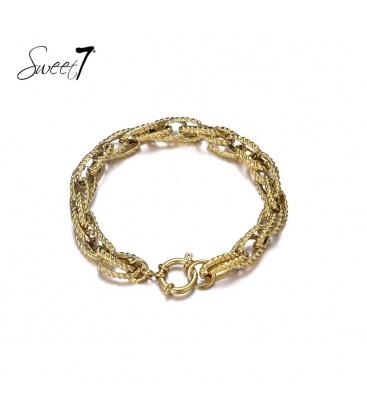 Goudkleurige schakel armband