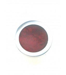 Donker rode oorclips met een zilverkleurige rand van Culture Mix.