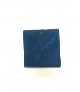 Vierkante blauwe oorclips van Culture Mix