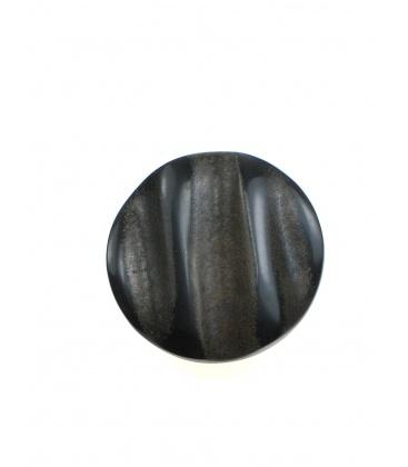 Zwart met bruine ronde oorclips van Culture Mix