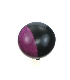 Culture Mix oorclips met donker roze en zwarte invulling