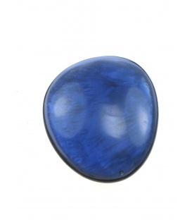 Blauwe parelmoer oorclips van culture mix