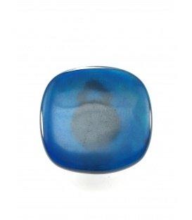 Blauwe vierkante oorclips van Culture Mix