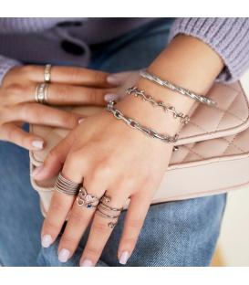 Goudkleurige armband in de vorm van stevige schakels