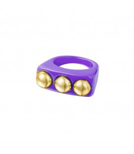 Paarse Candy Ring met drie knopen