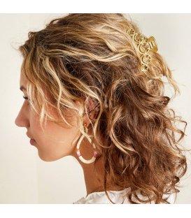 Goudkleurige haarclip met smiley vormen