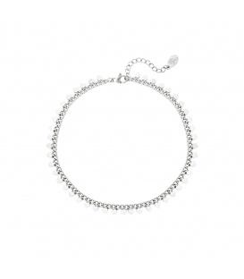 Zilverkleurige armband met hartjes