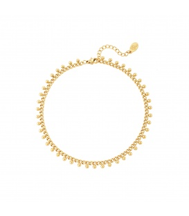 Goudkleurige armband met bolletjes