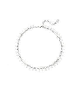Zilverkleurige armband met rechthoeken
