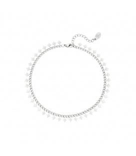 Zilverkleurige armband met sprankelende sterren