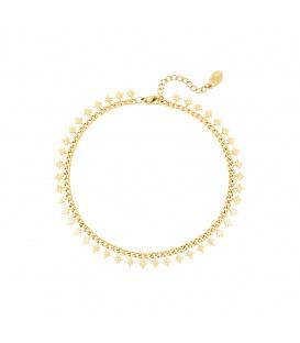 Goudkleurige armband met sprankelende sterren