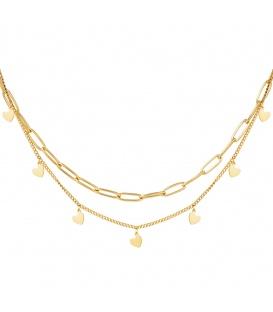 Goudkleurige halsketting Chain My Heart