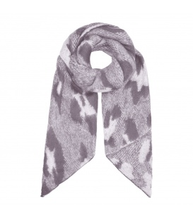 Grijze sjaal met panterprint