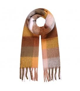 Beige extra lange sjaal in verschillende kleurcombinaties