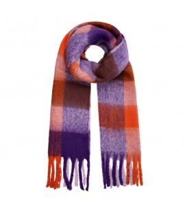 Gekleurde lange extra sjaal in verschillende kleurcombinaties