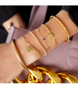 Goudkleurige armband met sterrenbeeld schorpioen