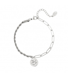 Zilverkleurige armband met sterrenbeeld boogschutter