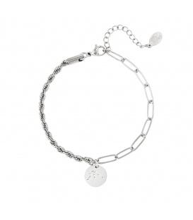 Zilverkleurige armband met sterrenbeeld waterman