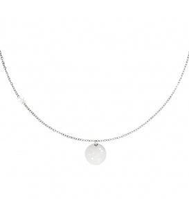 Zilverkleurige halsketting met sterrenbeeld tweeling