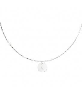 Zilverkleurige halsketting met sterrenbeeld kreeft