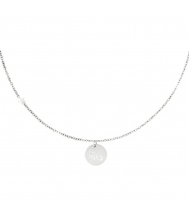 Zilverkleurige halsketting met sterrenbeeld schorpioen