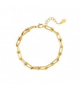Goudkleurige armband in kettingstijl