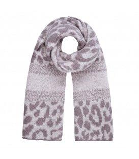 Grijze warme winter sjaal met opdruk