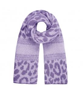Paarse warme winter sjaal met dieren print