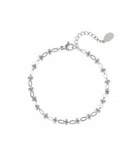 Zilverkleurige dunne armband in kettingstijl