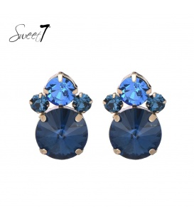 Blauwe oorbellen van glaskralen
