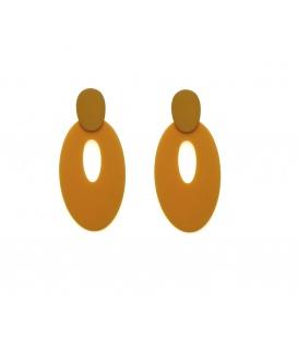 Oker gele langwerpige ovale oorstekers