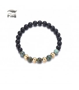 Zwart natuurstenen armband voor heren