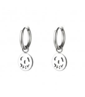 Zilverkleurige oorbellen met een ronde pompoen