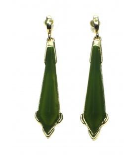 Groene langwerpige oorbellen van Wings Byou