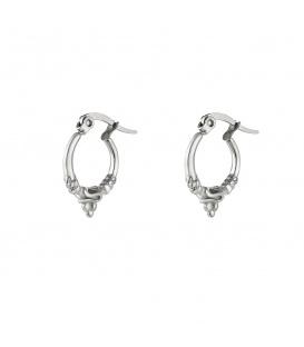Zilverkleurige oorbellen met een vintage look