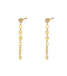 Goudkleurige oorstekers met een hanger van verschillende vormen
