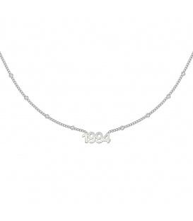 Zilverkleurige halsketting met jaartal 1994