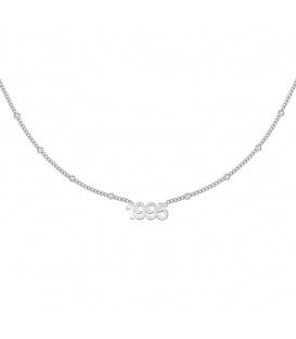 Zilverkleurige halsketting met jaartal 1995